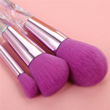 Load image into Gallery viewer, 10 pc Purple Diamond Crystal Makeup Brush Set - Timeless Modern Home