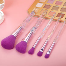 Load image into Gallery viewer, 5 pc Purple Diamond Crystal makeup Brush Set - Timeless Modern Home