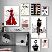 Load image into Gallery viewer, Pink Heels Fashion Wall Art Canvas - Timeless Modern Home