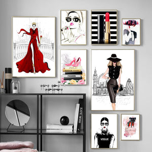 Pink Heels Fashion Wall Art Canvas - Timeless Modern Home