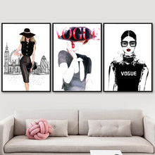 Load image into Gallery viewer, VOGUE Fashion Wall Art Canvas - Timeless Modern Home