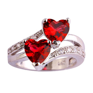 Diamond Double Heart Ring - Timeless Modern Home