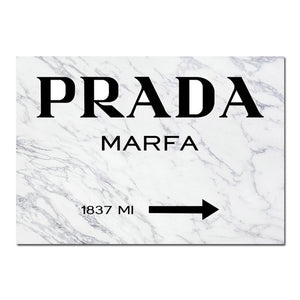 Prada Wall Art Canvas - Timeless Modern Home