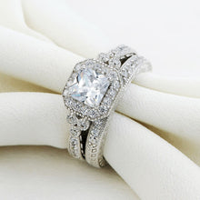 Load image into Gallery viewer, 2pc Vintage Style Diamond Ring Set - Timeless Modern Home