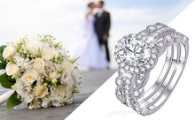 Load image into Gallery viewer, 3 pc Elegant Diamond Ring Set