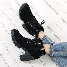 Load image into Gallery viewer, Women's Lace Up High Heel Boots