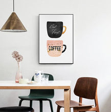 Load image into Gallery viewer, Coffee Cup Wall Art Canvas - Timeless Modern Home