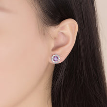 Load image into Gallery viewer, Purple Diamond Stud Earrings - Timeless Modern Home