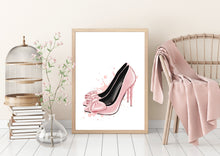 Load image into Gallery viewer, Pink Heels Wall Art Canvas - Timeless Modern Home