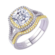 Load image into Gallery viewer, 2 pc Luxury Cushion Cut Diamond Ring Set