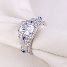 Load image into Gallery viewer, 2 pc Classic Princess Cut Diamond Ring Set - Timeless Modern Home