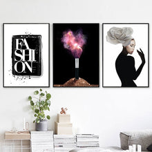 Load image into Gallery viewer, Makeup Brush Wall Art Canvas - Timeless Modern Home