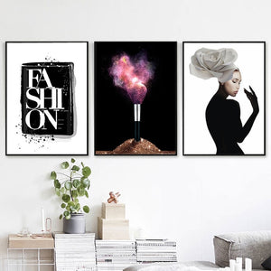Makeup Brush Wall Art Canvas - Timeless Modern Home