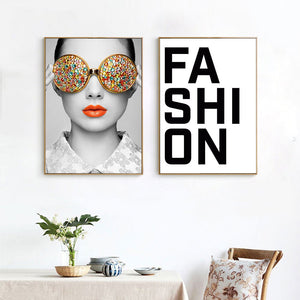 Vogue Fashion Wall Art Canvas - Timeless Modern Home