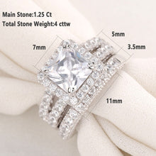 Load image into Gallery viewer, 2 pc Princess Cut Diamond Ring Set - Timeless Modern Home
