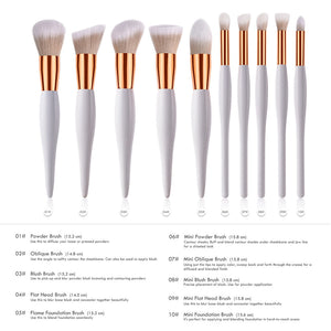 10 Pc Professional Makeup Brush Set - Timeless Modern Home