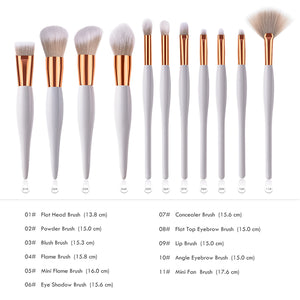 11 pc Professional Makeup Brush Set - Timeless Modern Home