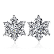 Load image into Gallery viewer, Snowflake Sterling Silver Earrings - Timeless Modern Home