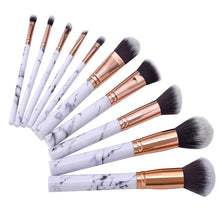 Load image into Gallery viewer, 10 pc Professional Marble Makeup Brush Set - Timeless Modern Home