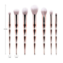 Load image into Gallery viewer, 7 pc Professional Makeup Brush Set - Timeless Modern Home