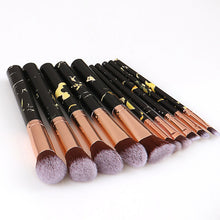 Load image into Gallery viewer, 10 pc Professional Black Makeup Brush Set - Timeless Modern Home
