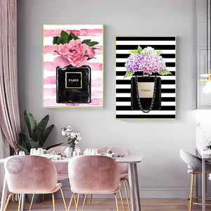 Black Striped Paris Wall Art Canvas - Timeless Modern Home