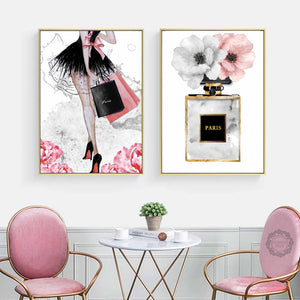 Fashion Girl Wall Art Canvas - Timeless Modern Home