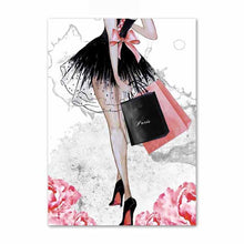 Load image into Gallery viewer, Fashion Girl Wall Art Canvas - Timeless Modern Home