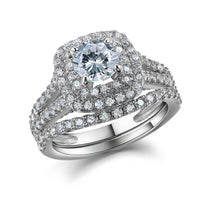Load image into Gallery viewer, 2 pc Victorian Style Diamond Ring Set - Timeless Modern Home
