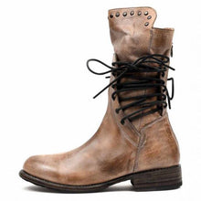 Load image into Gallery viewer, Women's Leather Lace Up Boots