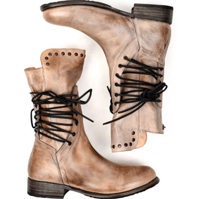 Women's Leather Lace Up Boots