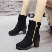Load image into Gallery viewer, Women's High Heel Ankle Boots