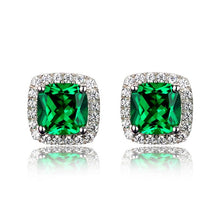Load image into Gallery viewer, Luxury Emerald Stud Earrings - Timeless Modern Home