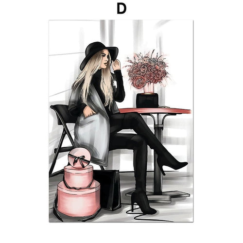 Diva Fashion Wall Art Canvas - Timeless Modern Home