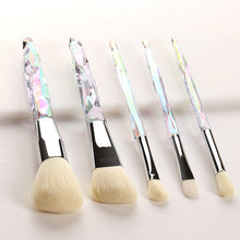 Load image into Gallery viewer, 5 pc Diamond Crystal Makeup Brush Set - Timeless Modern Home