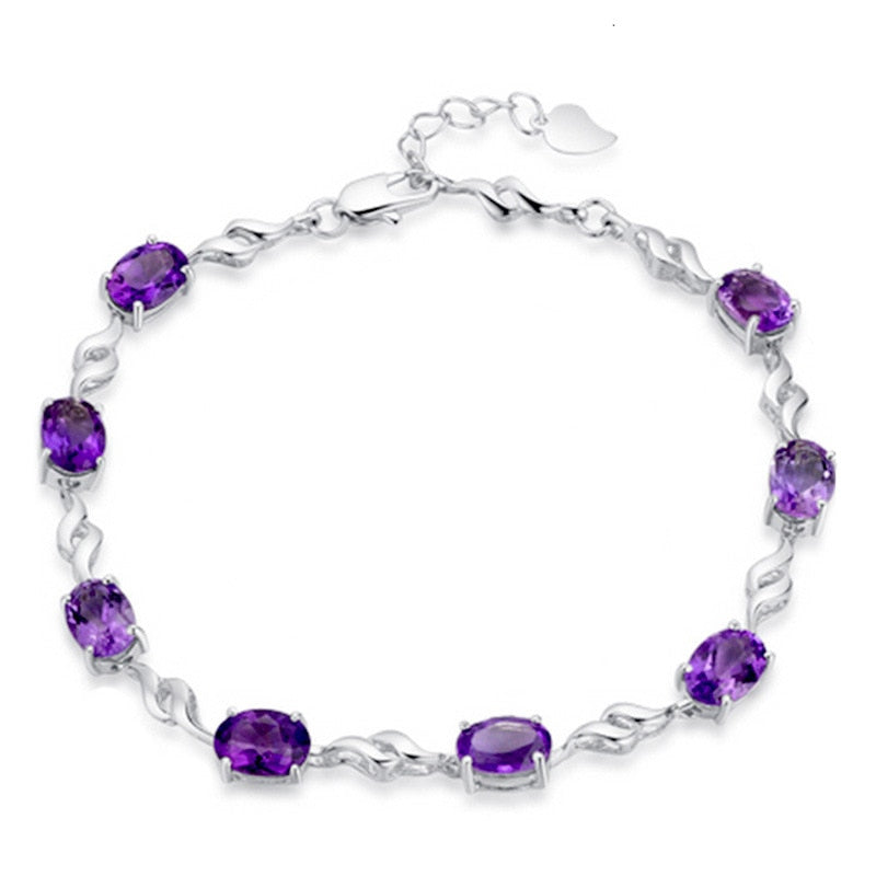 Elegant Purple Diamond Bracelet - Timeless Modern Home