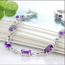 Load image into Gallery viewer, Elegant Purple Diamond Bracelet - Timeless Modern Home