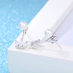 Princess Crown Sterling Silver Earrings - Timeless Modern Home
