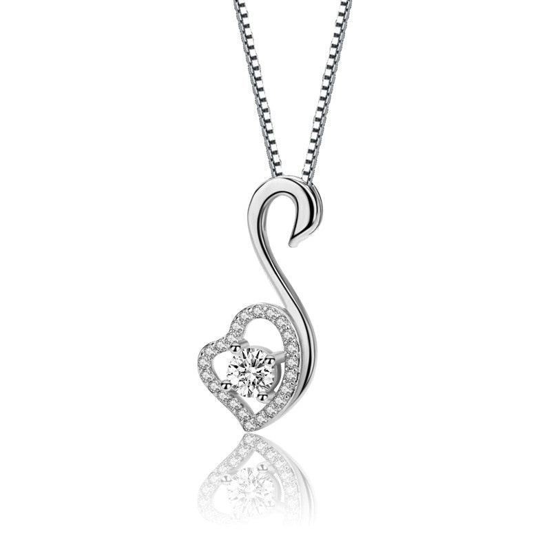 Elegant Diamond Heart Pendant Necklace - Timeless Modern Home