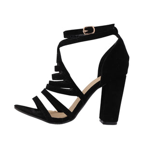 Women's Cross Strap High High Sandals