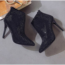 Load image into Gallery viewer, Women's Rhinestone High Heel Boots
