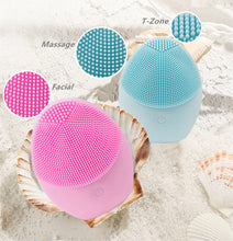 Load image into Gallery viewer, Electric Silicone Exfoliating Sonic Facial Cleansing Brush