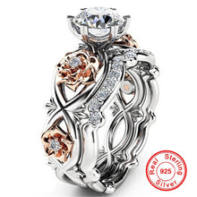 Load image into Gallery viewer, 2 pc Luxury Diamond Flower Ring