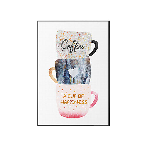 Coffee Cup Wall Art Canvas - Timeless Modern Home