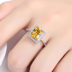 Elegant Yellow Diamond Ring