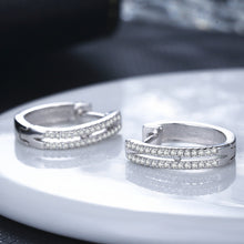 Load image into Gallery viewer, Elegant Diamond Hoop Earrings - Timeless Modern Home
