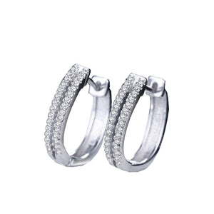 Elegant Diamond Hoop Earrings - Timeless Modern Home