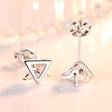 Load image into Gallery viewer, Triangle Diamond Stud Earrings - Timeless Modern Home