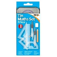 TIN MATHS SET X 9 PIECES