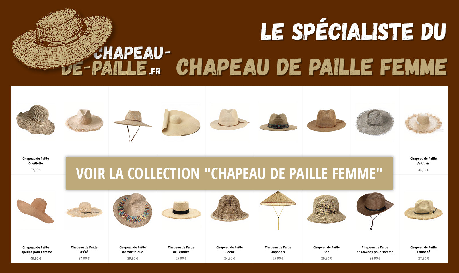 Collection Chapeau de Paille Femme